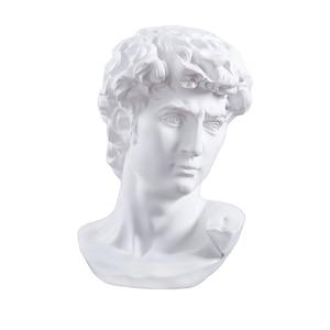 David Head Portraits Bust Mini Gypsum Statue Michelangelo Buonarroti Home Decoration for Resin Art&Craft Sketch Practice