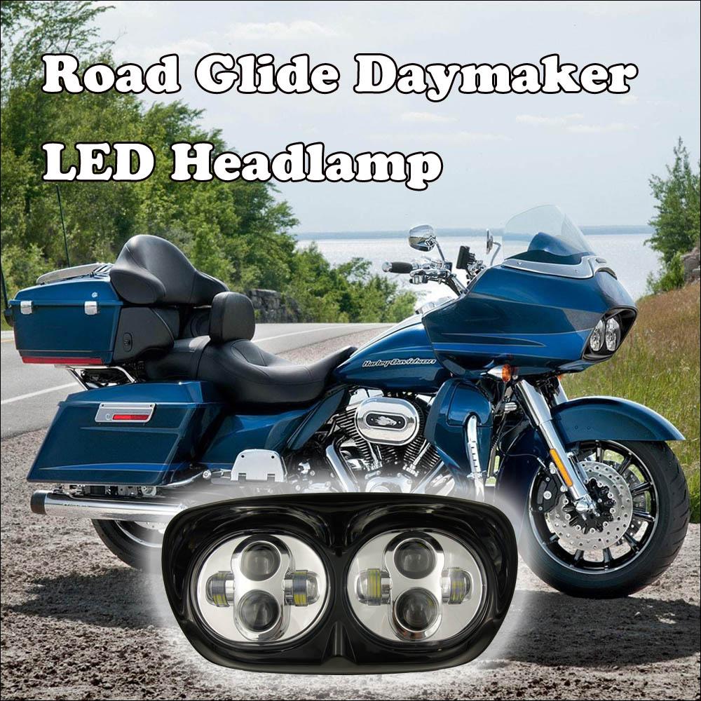 1 juego de faros LED Road Glide Set Faros antiniebla para motor - Luces del coche