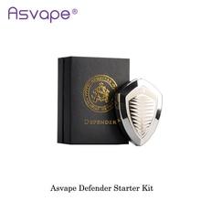 Authentic asvape defender kit 1200ma built in tudo em um e cig starter box mod kit vape vaporizador mod cigarro electronique