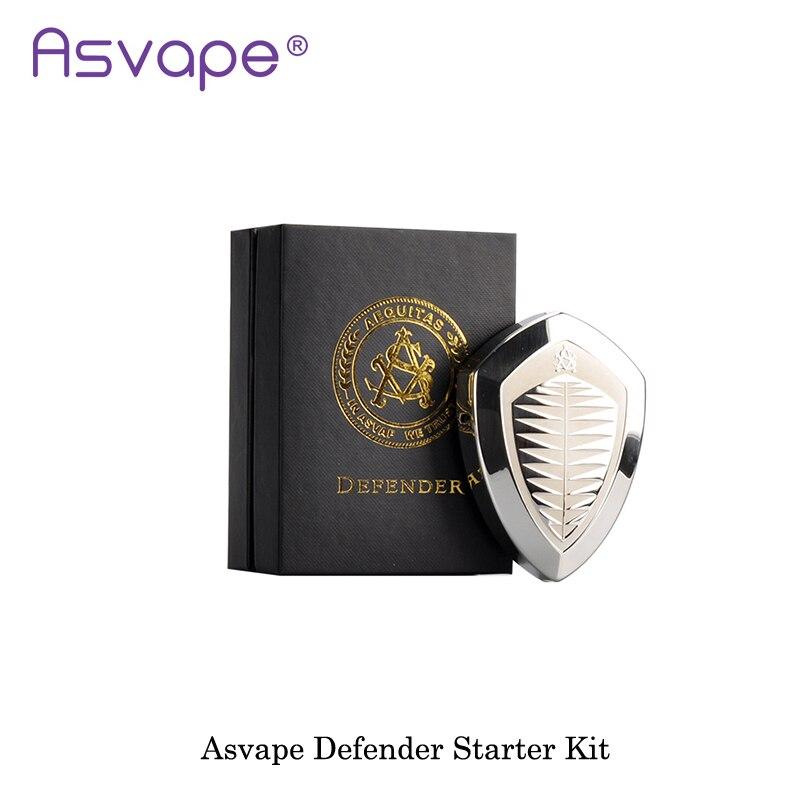 Authentique Asvape Defender Kit 1200mA intégré Tout En Un e-cig Boîte Mod Kit de Démarrage Vaporisateur Vaporisateur Mod cigarette electronique
