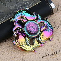 Multicolor Rainbow Three Strip Fish Fidget Spinner EDC Hand Spinner Metal Finger Spinner Autisme ADHD Anti