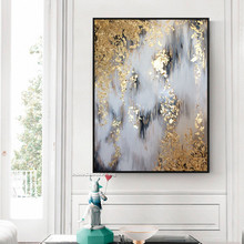 Hand painted Canvas oil paintings Gold Art decorative pictures for living room home decor cuadros decoracion
