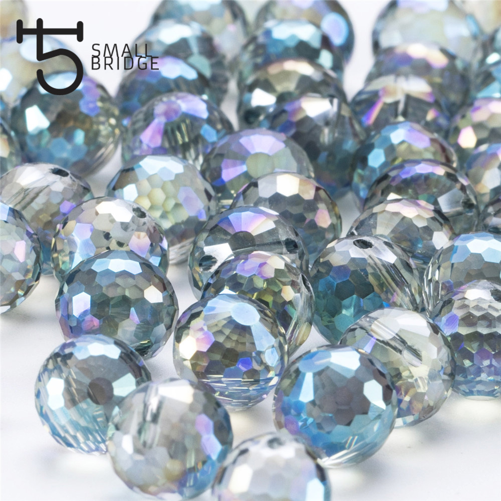 Austria Ab Color Faceted Large Crystal Beads for Jewelry Making Diy Bracelet Material Perles Loose Round Glass Beads X002