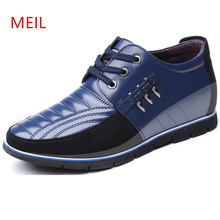 Brand Height Increasing 5 cm Man Shoes Leather Genuine Men Casual Male Invisible Elevator Comfortable Oxfords