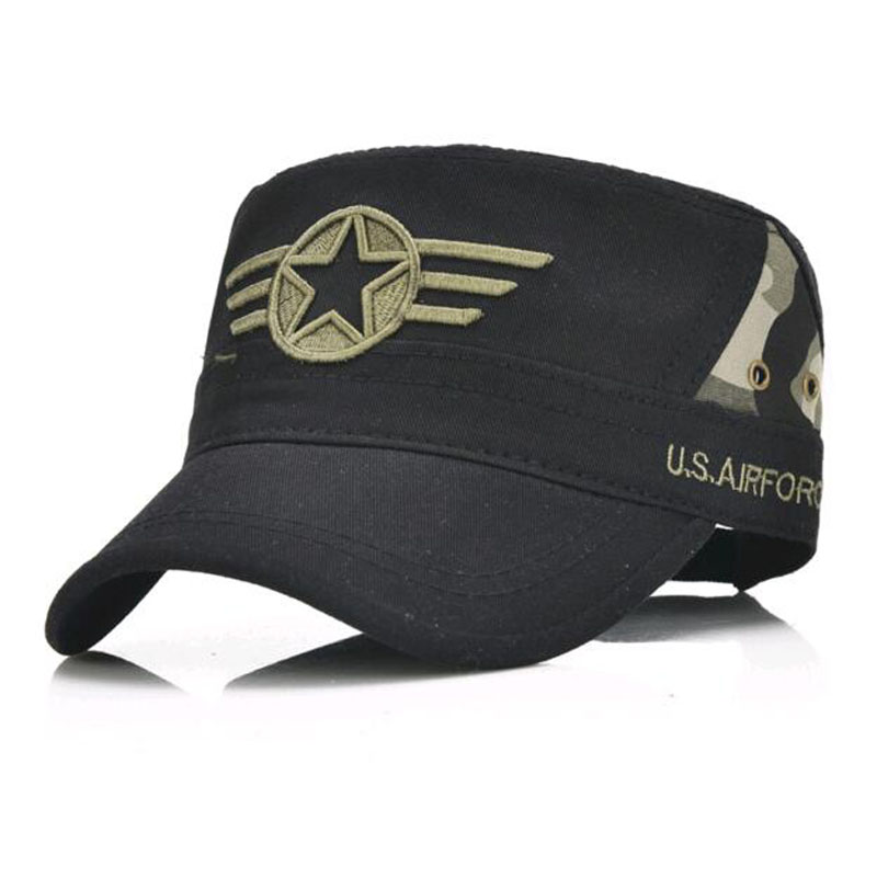 2017 New Men's flat cap camouflage Hats For Women Simple Cotton Navy sailor Captain cap star design brushed cotton twill ivy hat flat cap by decky brown