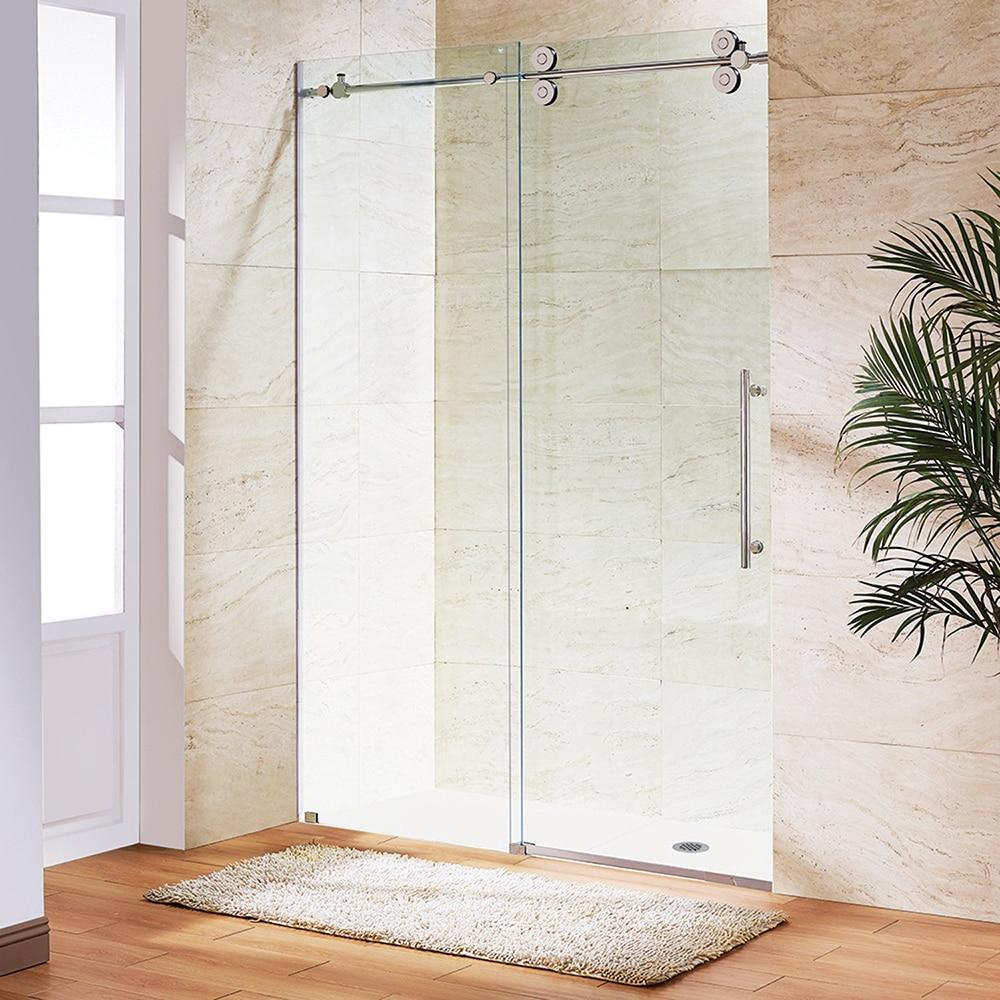 Frameless Glass Sliding Shower Door Stainless Steel 69mm Roller