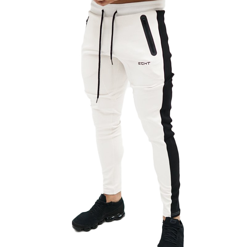 US $15.82 42% OFF|Mens Joggers Casual Pants Fitness Men Sportswear Tracksuit Bottoms Skinny Sweatpants Trousers Black Gyms Jogger Track Pants in