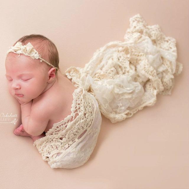 Bebe Photography Accessories Newborn Photography Props Lace  Wrap Scarf Newborn Fotografo Wrap Photographe Props Fotografia