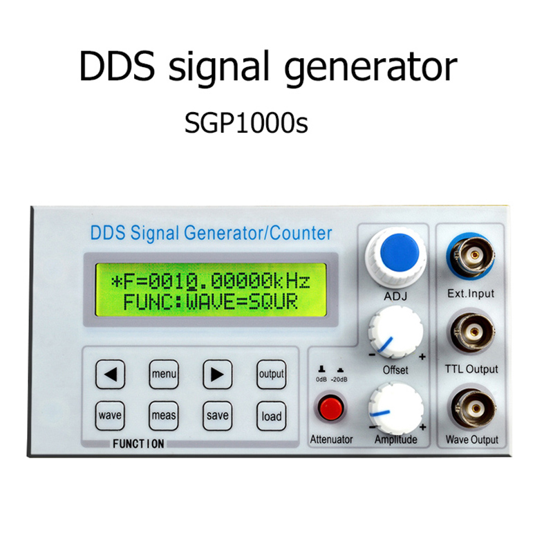 SGP1000S embedded panel type DDS function signal generator / teaching instrument signal source frequency counter