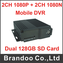 New Arrival 4ch dual sd card mobile dvr support GPS 4G funciton.