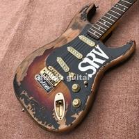 ST aged Electric guitar S R V handmade remains guitar, custom guitar