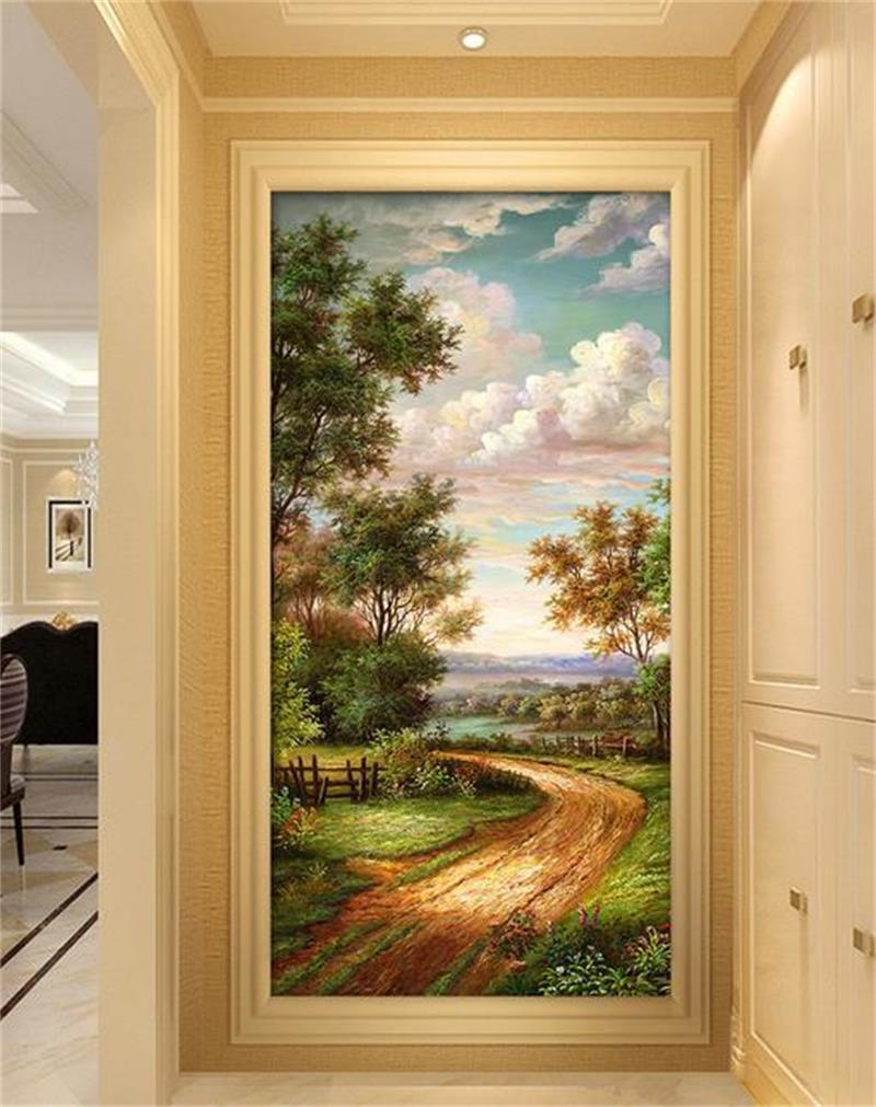 3d room wallpaper custom mural photo Country road landscape 3D