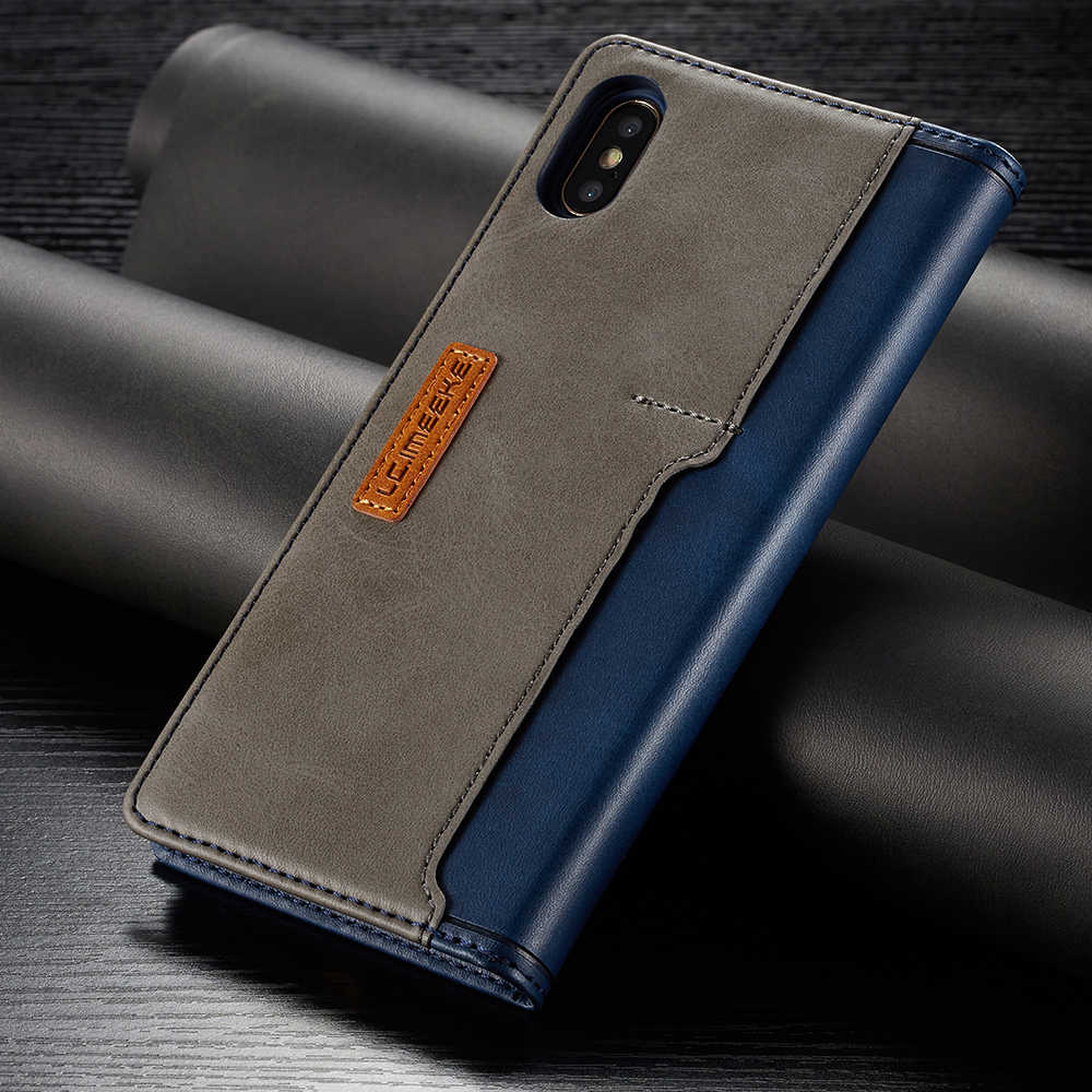 Leder Fällen Für Apple iPhone 11 Pro X XR XS MAX ProMAX 8 7 6 6S Plus Kontrast Farbe flip Fundas Magnetische Leder Holster Fall