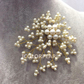 Nice Flower Shaped Small White Natural Freshwater Pearl Brooch.Nice Gift For Mothers
