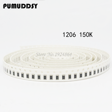 100PCS 1206 SMD Resistor  150K ohm chip resistor 0.25W 1/4W 154
