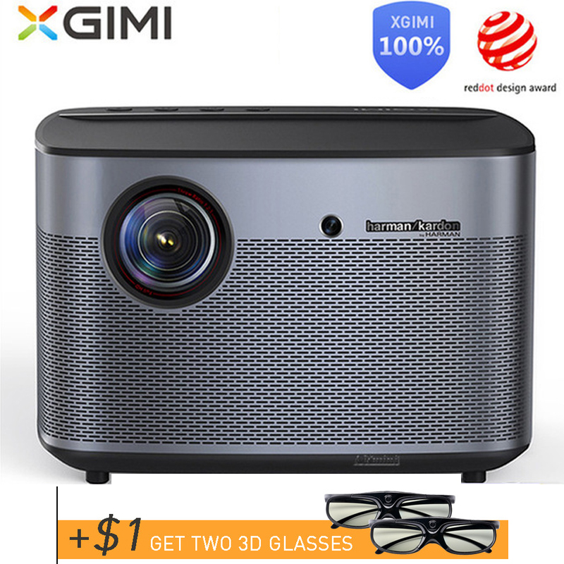 Internazionale globale versione XGIMI H2 Proiettore DLP 1080 p Full HD 3D 4 K Video Proiettore Android tv Wifi Bluetooth home Theater