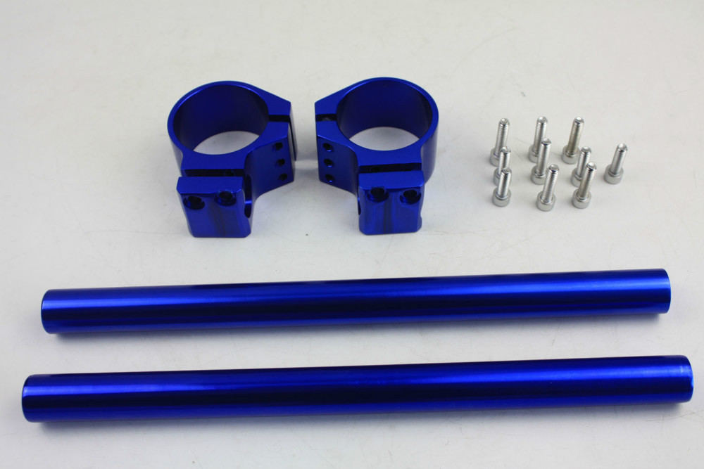 Handlebar clip on for Honda RC45 51 CBR 929 954 1000RR Kawasaki ZX 6R 10R BLUE
