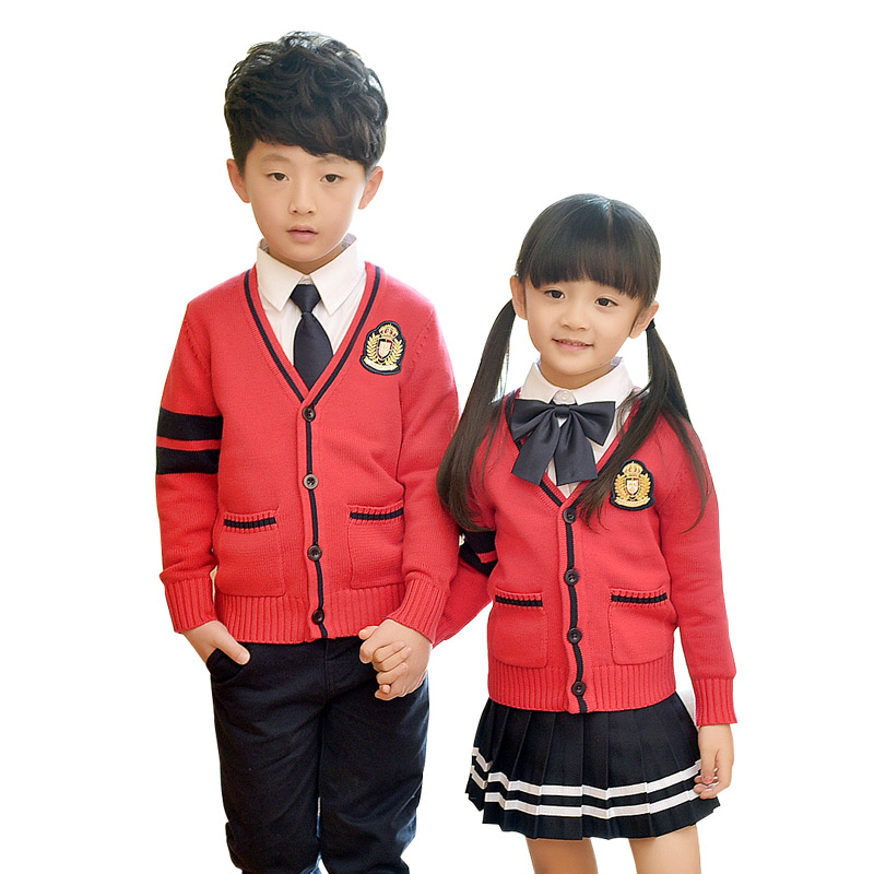Children Fashion Student Cotton School Uniforms Set Suit Girls Boys Short Cotton Shirt Skirt Shorts Pants Tie Set Uniforms 2-10T цена