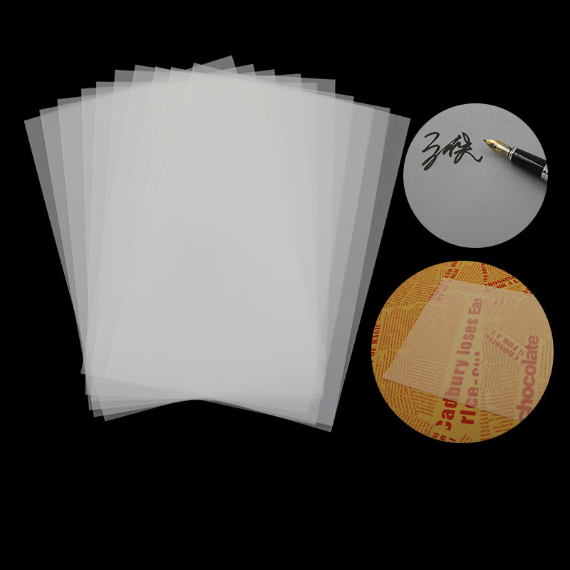 50pcs Sulfuric Acid Paper Transparent A1/A2/A3/A4 Tracing Paper Sketch Office Copy Calligraphy Linyi Engineering Transfer Paper