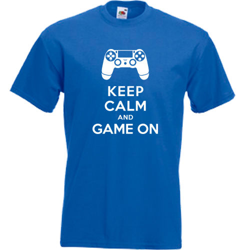 KEEP CALM amp GAME ON 360 XBOX ONE PS3 PS4 FUNNY MENS T SHIRT S 3XL PLAYSTATIONMans Unique Cotton Short Sleeves O Neck T Shirt in T Shirts from Men 39 s Clothing