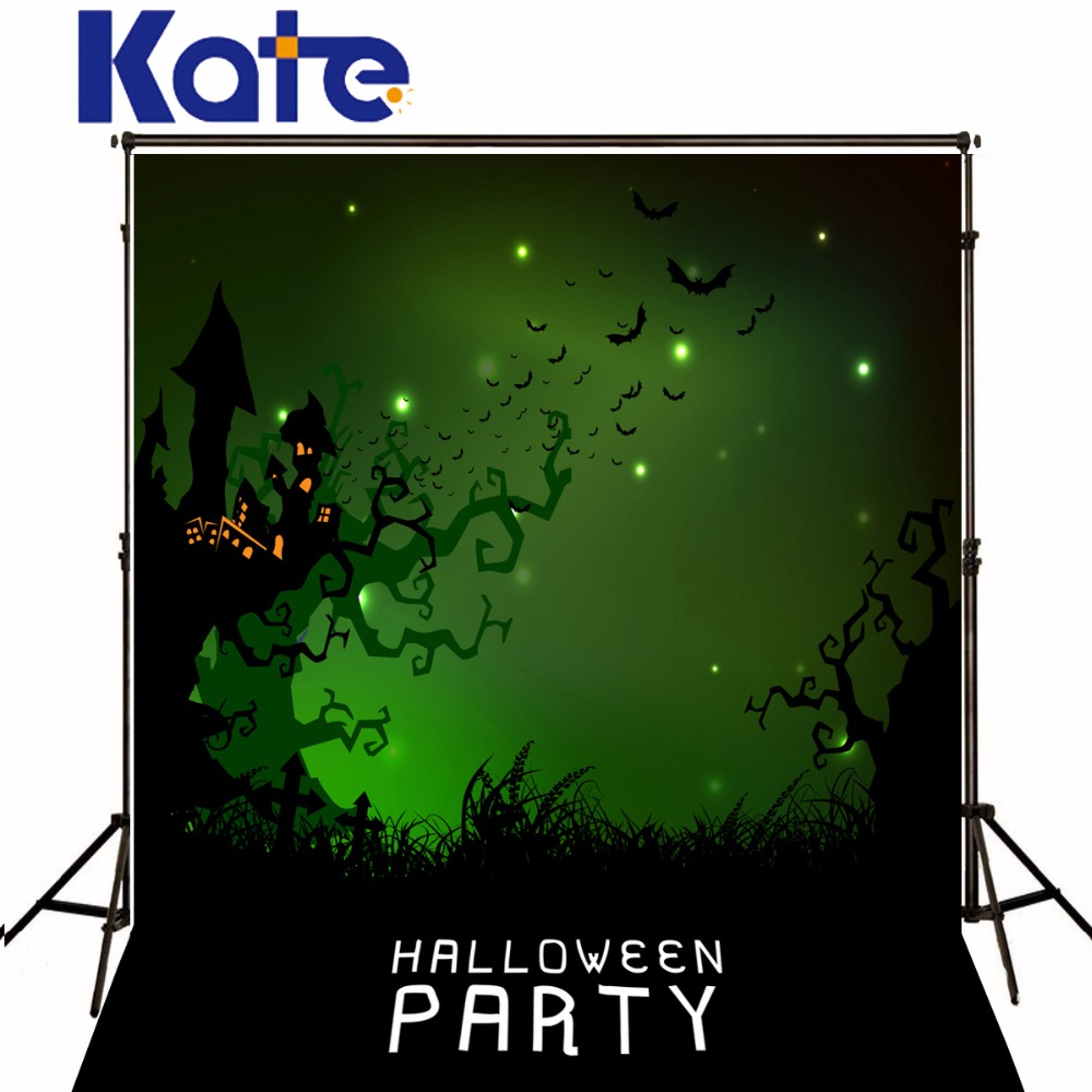 5x7ft Kate Halloween party Theme night Photography Backgrounds Green Screen Photo Backdrop for Children Photo Studio 7 5ft halloween theme photography backgrounds full moon pumpkin black raven haunted house photo backgrounds for studio props