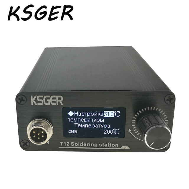 KSGER New STM32 OLED T12 Soldering Station With Russian Korean English Chinese T12-B2 For Hakko T12 Soldering Iron Tips