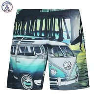 New Brand Shorts Men Summer 3d Digital Print Car Seaside Beach Shorts Casual Sports Short Pants