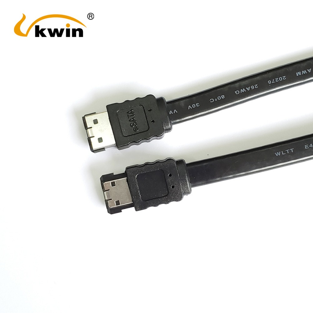 Cable eSATA blindado para disco duro externo SATA 2 conectores eSATA tipo I, 1 m