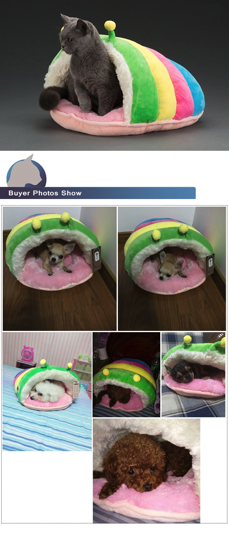 Rainbow Cat Bed12
