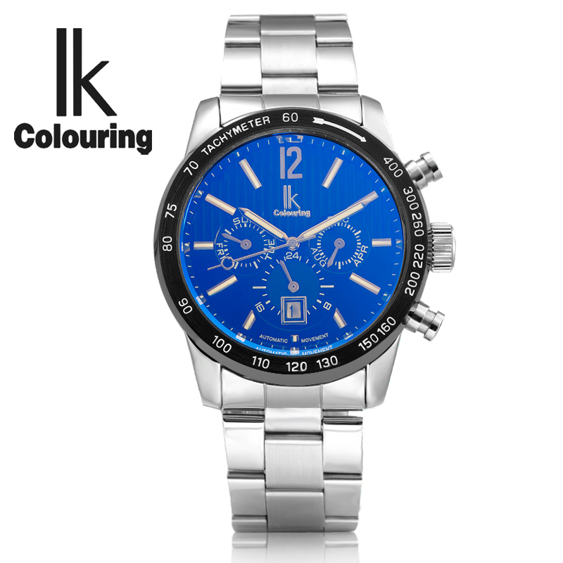 IK Colouring Luxury Mechanical Watches Men Luminous Full Steel Business Automatic Watch Male Timepieces Relojes Hombre 2018 стоимость