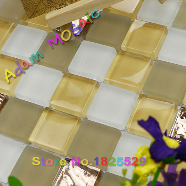 Goldene Milchglas Fliesen Badezimmer Wand Design Weiß Matt Fliesen Küche  Backsplash Blätter Spiegel Gelb Fliesen U