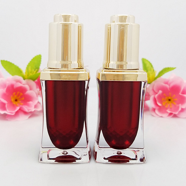 10ml high-grade red wasp waist acrylic essential oil / perfume bottle,cosmetic packaging bottle (with dropper cap ) himabm natural amethyst perfume bottle scent bottle essential oil bottle can volumetric flask birthday
