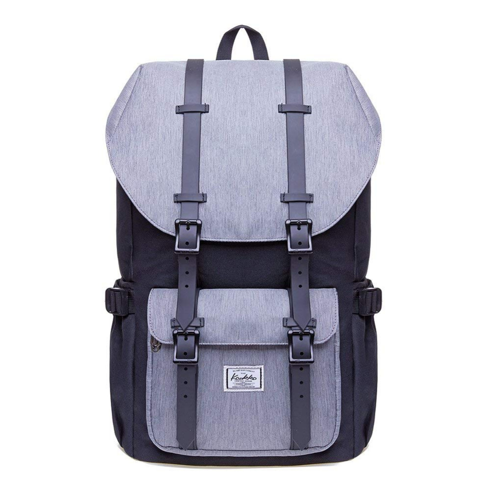 Zhouminli Mens Backpack Mens Vintage Canvas Backpack School Laptop Bag Hiking Travel Rucksack for Daily commuters College Students and All Types of Travelers Brown for Men Color : Black
