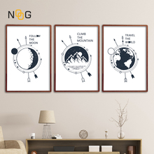 NOOG Nordic Travel Landscape Posters And Print Black White Minimalist Wall Art Canvas Painting For Living Room Decoration