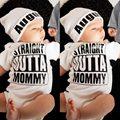 Moda Algodão Quente Bebê Recém-nascido Bodysuit Outono Manga Longa Carta Impressões Macacão Playsuit para meninos das meninas da Roupa Do Bebê Macio Y2