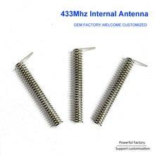 주문 인청동/니켈 도금 2dbi 내부 PCB 봄 433Mhz 코일 안테나 100PCS/배치