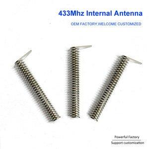 Image 1 - Bronze phosphoreux personnalisé/nickelé 2dbi ressort de carte PCB interne 433Mhz antenne de bobine 100 pièces/lot