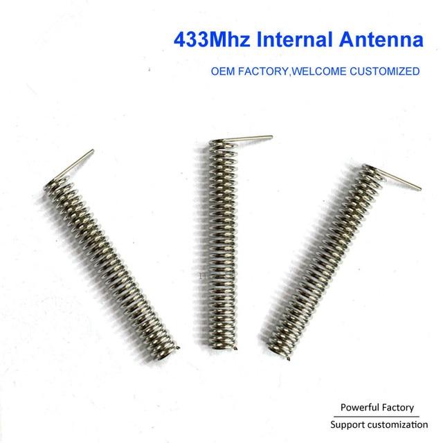 Custom phosphor bronze/nickel plated 2dbi internal PCB spring 433Mhz coil antenna 100PCS/batch