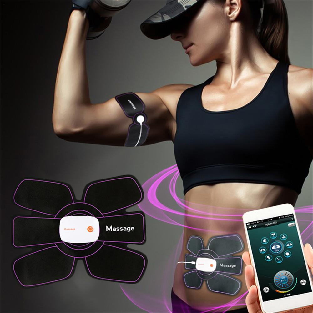 EMS Mobile Phone APP Smart Abdominal Fitting Device Domestic Abdomen Fitness Muscle Fitness Equipment Weight Loss Domestic Abdom