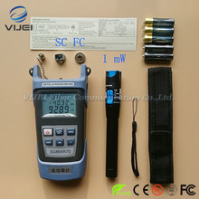 2 In 1 FTTH Tool Kit 1mW Visual Fault Locator Fiber optic test pen and King 60S Type C Optical Power Meter OPM   50 to +20dBm