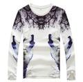 Men's Spring/Autumn  Fashion Printing Round Neck Long Sleeve T-shirt Big Yards Men's M-5XL