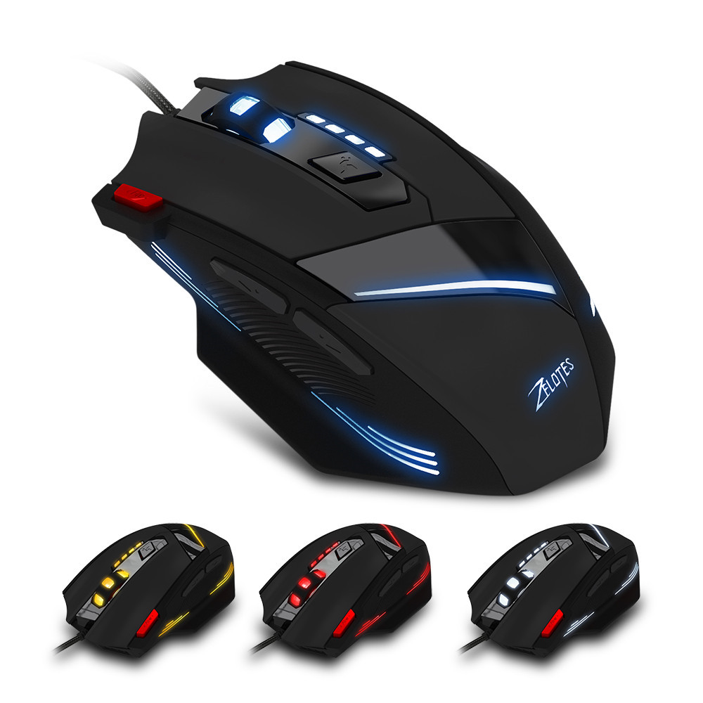 Professional Wired Mouse Computer Gaming T - 60 7200DPI Professional USB Wired Optical 7 Buttons Gaming Mouse et t6 wired gaming mouse black