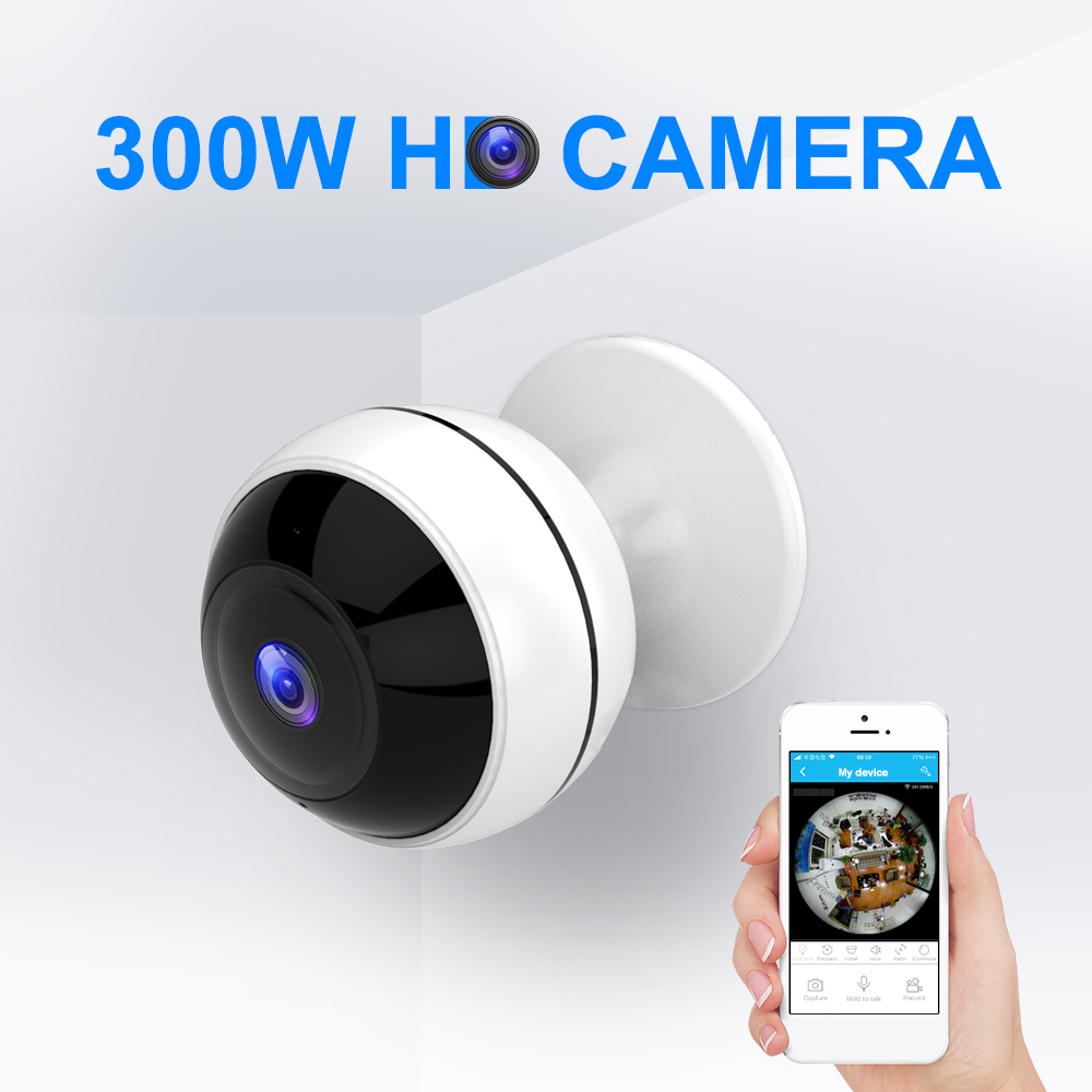 3MP Wifi Camera 360 Degree HD VR Panoramic Videcam Home Security Camera Infrared Night Vision TF Card Surveillance Camera цена