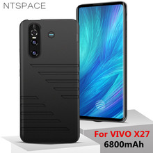 NTSPACE Ultra Thin Power Bank Cover For VIVO X27 Case 6800mAh Portable Powerbank Charging Cases External Battery