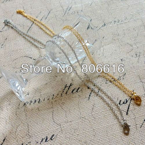 Free Nickel ~ 12Pcs (40CM/L & 1.6MM/W ) Plated Necklace Chain & Clasp Jewelry Findings Accessories