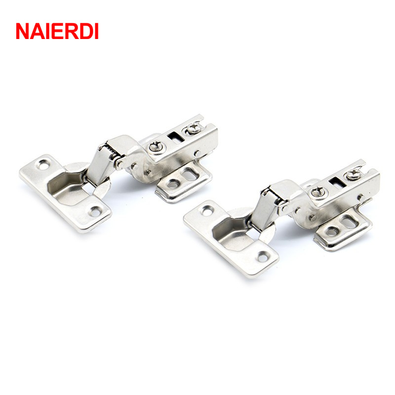 NAIERDI C Series Full Size Hinge Iron Door Hydraulic Hinges Damper Buffer Soft  Close Cabinet Cupboard Door Furniture Hardware