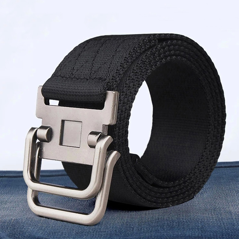 MEDYLA Rushed Direct Selling Striped Adult Cintos Femininos Belts Men Belt Belt Man Canvas Lengthen Strap Personality Male Nylon