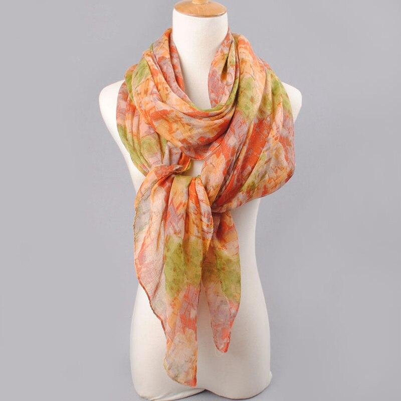 2019 högkvalitativ KVINNA SCARF bomullslöst polyester scarves solid - Kläder tillbehör - Foto 5