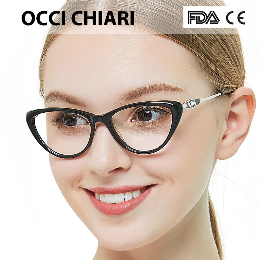 Occi chiari Женская оправа для очков прозрачные оправы ацетатные