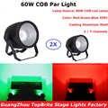 2 unids/lote luz par Led COB 60W carcasa de aluminio de alta potencia DJ Disco DMX haz de luz Led efecto estroboscópico iluminación de escenario envío DHL